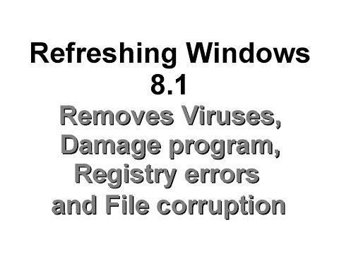 Step 13 - Refreshing Windows 8