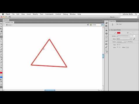 Adobe Flash CS6 Tutorial | Manipulating Anchor Points, Part 2/2
