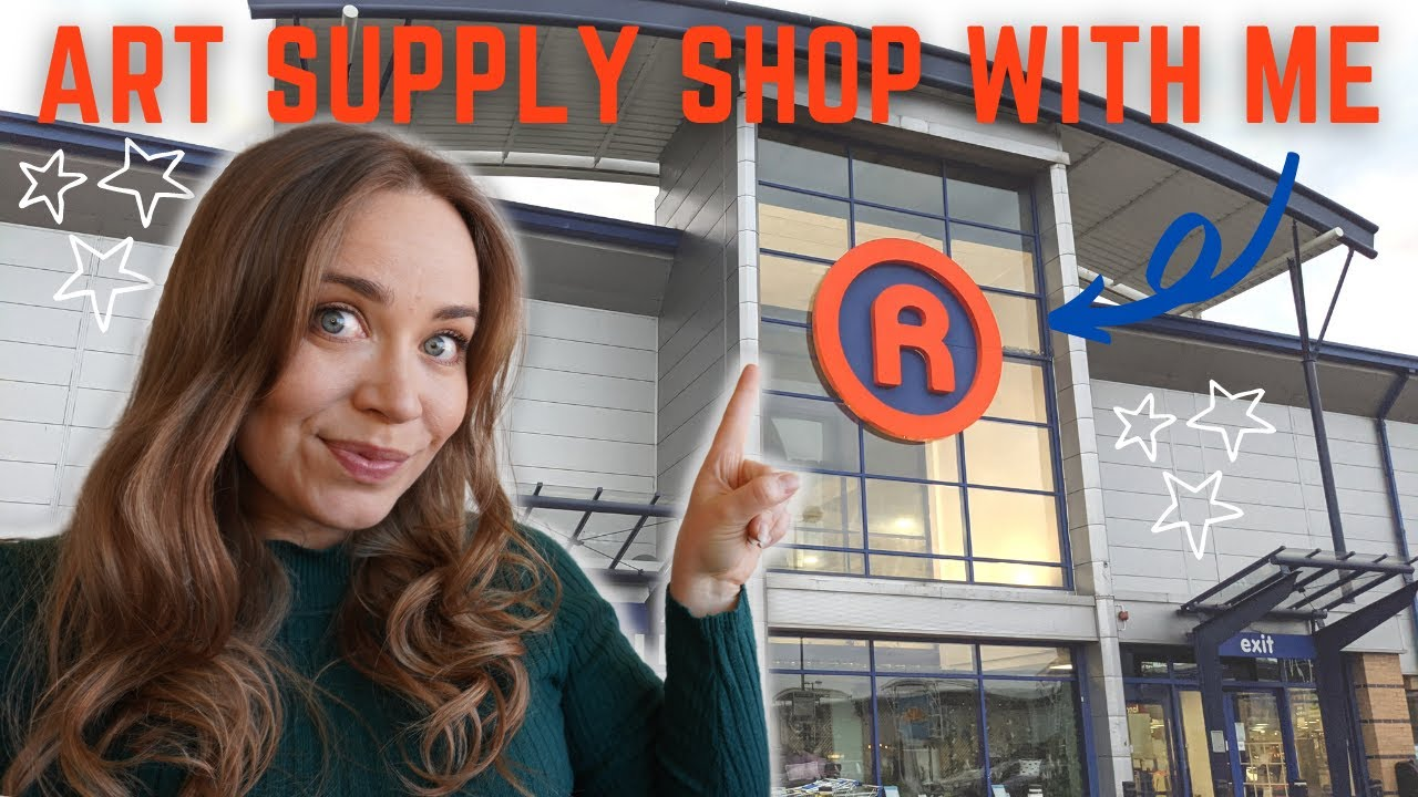 The Range Art Supply Shop With Me And Haul | art supplies in The Range UK