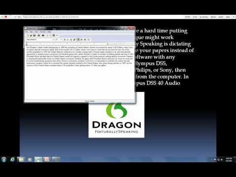 Transcribing audio files with Dragon Naturally Speaking