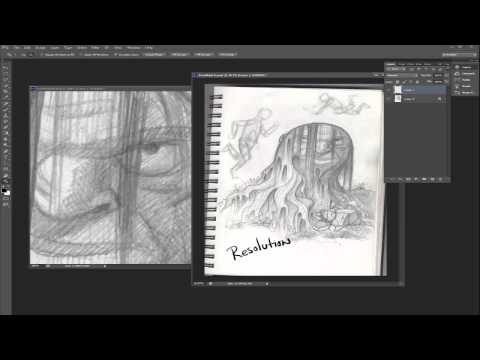 Scanning, Re-Sizing, Resolution, and Pixels in Photoshop