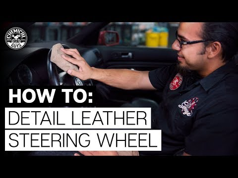 How To Clean and Protect Leather Car Steering Wheel - Chemical Guys