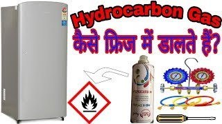 How to gas charging in back pressure in Hindi R12 R134a R600a H C