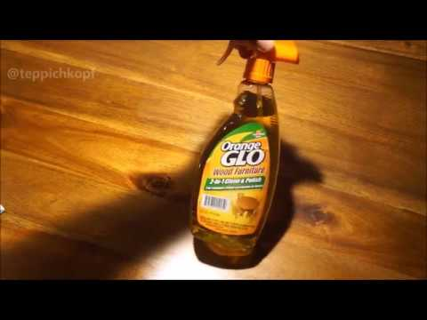 Kitchen Table Test - Orange Glo Wood Furniture 2 in 1 Cleaner Polish Spray