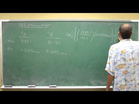 Average Atomic weight of boron 009