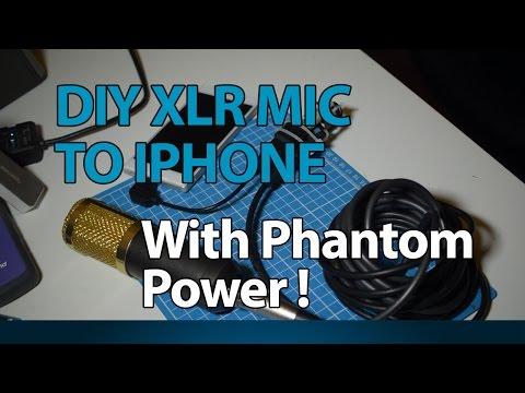 DIY XLR Mic to iPhone Interface with Phantom Power!