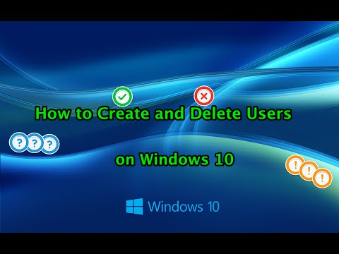 Add and Remove Users on Windows 10