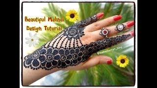 How to apply beautiful latest arabic khaleeji jewellery henna mehndi designs for hands eid,diwali