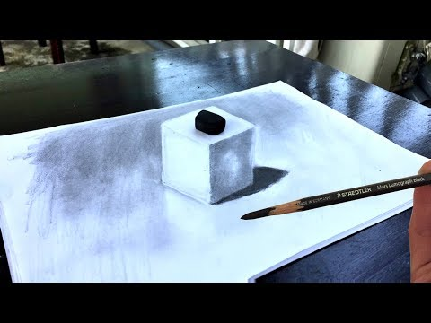 How to Draw a 3D Cube that Look Real