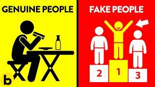 8 Differences Between Genuine & Fake People