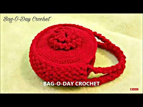 CROCHET How to #Crochet Flower Handbag Purse #TUTORIAL #120 supersaver