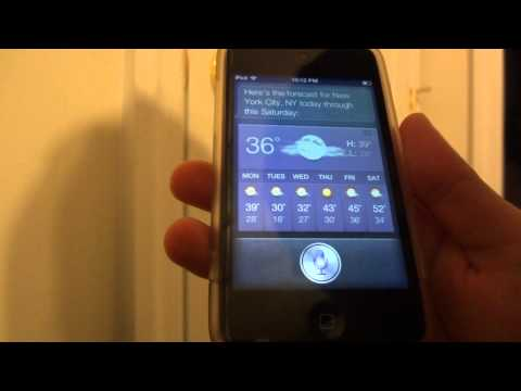 Siri working on iPod Touch 4th Generation using Spire