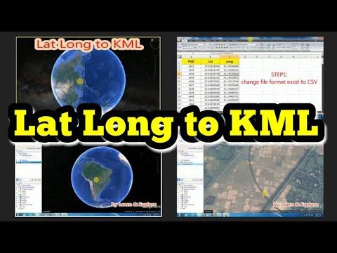 Lat Long to KML//Google Earth Pro
