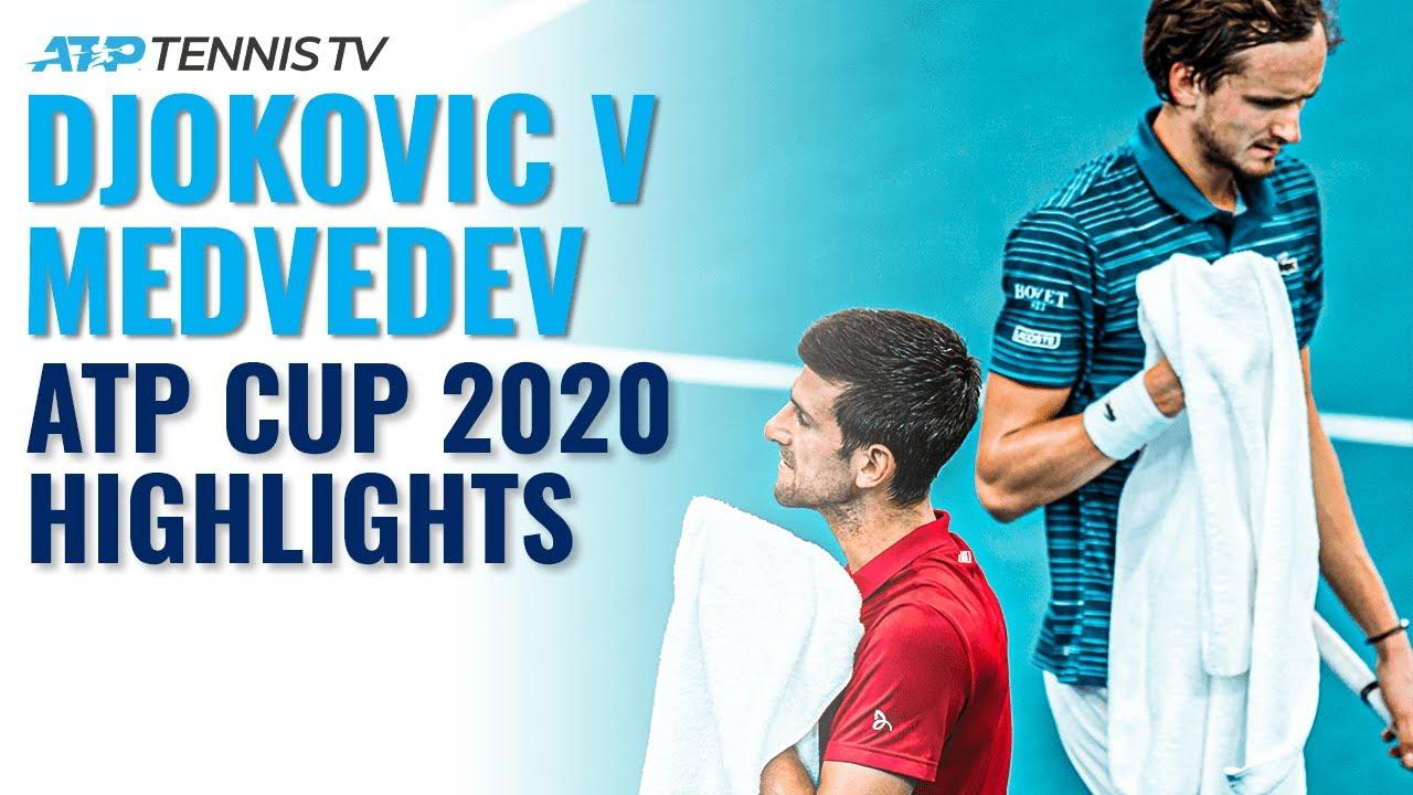 Novak Djokovic vs Daniil Medvedev | ATP Cup 2020 Extended Highlights
