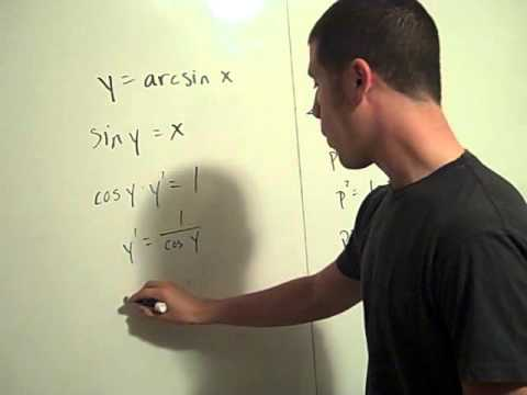 Inverse Trig functions derived!