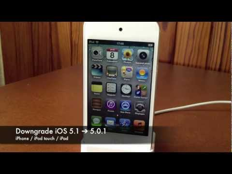 Downgrade iOS 5.1/5.1.1 vers iOS 5.0.1 (iPhone / iPod Touch / iPad)