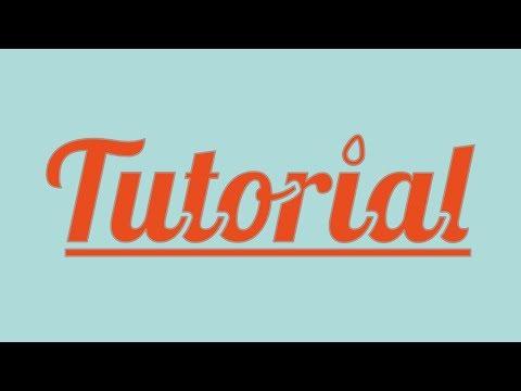 Illustrator CS6 CC Tutorial - Editing Letters