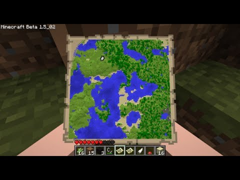 Minecraft: How to make a compass and a map