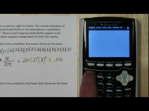 Binomial Random Variables: Binompdf & Binomcdf on TI-84 Plus