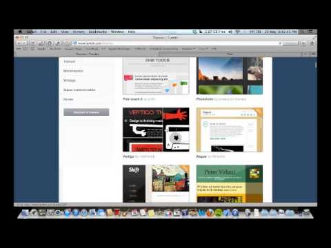 How to make a website using Tumblr -the basics