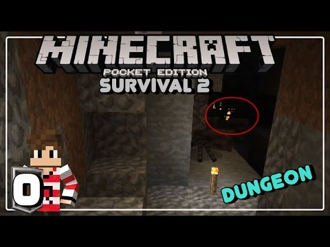 DUNGEON (MONSTER SPAWNER) DI AWAL! - MINECRAFT PE SURVIVAL INDONESIA (0)