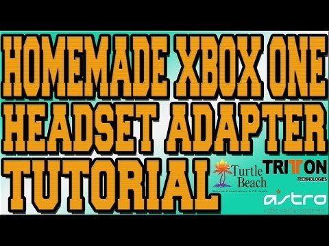 Xbox One Headset Adapter Mod - HOW TO USE TURTLE BEACH / ASTRO / TRITTON WITH CHAT TUTORIAL