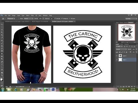 desain logo komunitas satu warna dengan photoshop