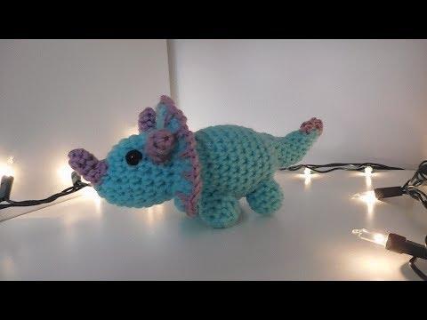 Amigurumi Crochet Triceratops Tutorial