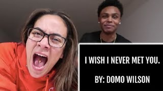 I Wish I Never Met You- By Domo Wilson (LYRIC VIDEO)- Rae & Brie 