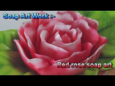 How to carving a soap rose petals - soap carving techniques - Soap Art Work