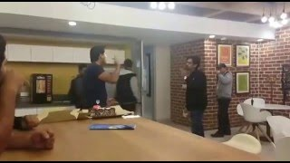 Fight in the office, celebration gone wrong