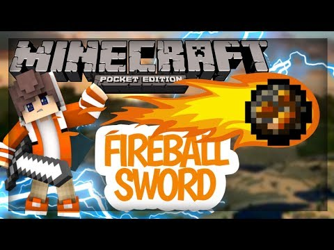 MCPE: How to throw fireball using op sword| command block creation (no mods)