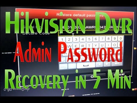 Hikvision DVR Password Recovery Tool || Easy & Fast || Reset Hik-vision DVR/NVR Forgotten Password
