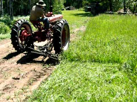 Farmall H and sickle mower
