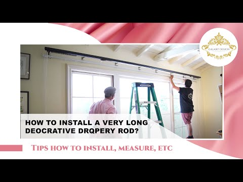 Video #58: Innovative Design Series: Installing a Heavy Duty Deco Rod including F-Brackets Curtains