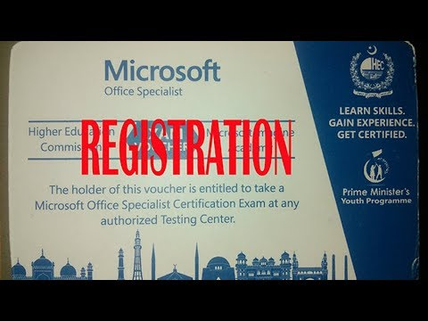 HOW TO REGISTER (MOS) MICROSOFT CARD BY PM NAWAZ SHRIF WITH LEPTOP 2017  URDU.BY INFORMATION PLANET