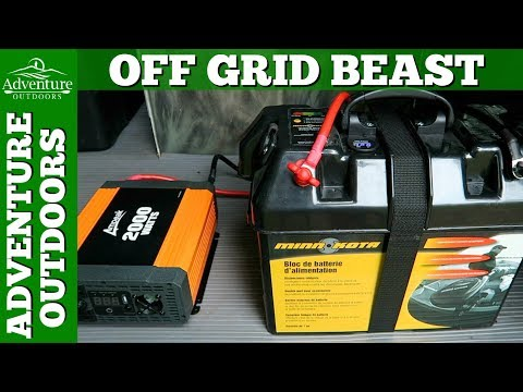 Adventure Van ~ VMax 125 AH Off Grid Solar Battery Power Setup ~ Redneck Yeti 1250