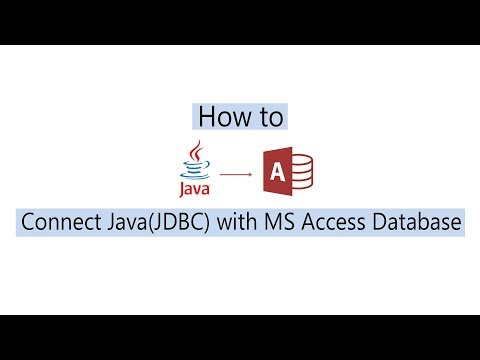 Connect Java and Ms Access Database using UcanAccess!!