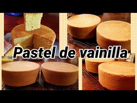 Receta pan de vainilla ,vanilla cake recipe /especial para fondant muy firme😎😎😎😎