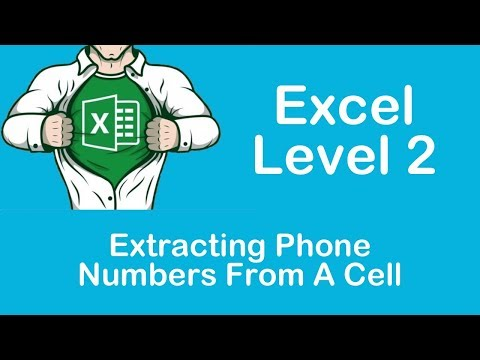 Excel Extracting Phone Numbers From A Cell
