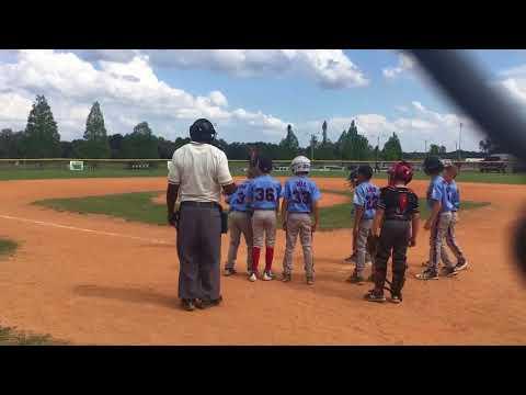9U Travel baseball home run