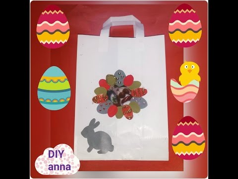 easter paper gift bag decorations bunny eggs DIY craft ideas tutorial / URADI SAM
