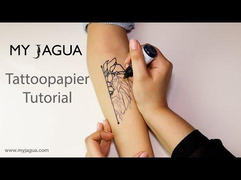 Tattoopapier - Tutorial | Jagua Tattoo | Henna