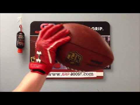 How to Keep Your Football Gloves Sticky --- Use Grip Boost
