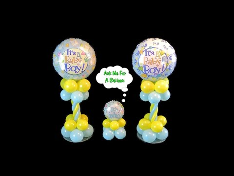 Baby Shower Balloon Centerpieces - Video Tutorial