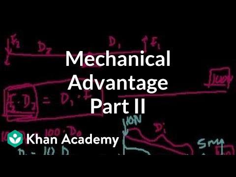 Mechanical advantage (part 2) | Work and energy | Physics | Khan Academy