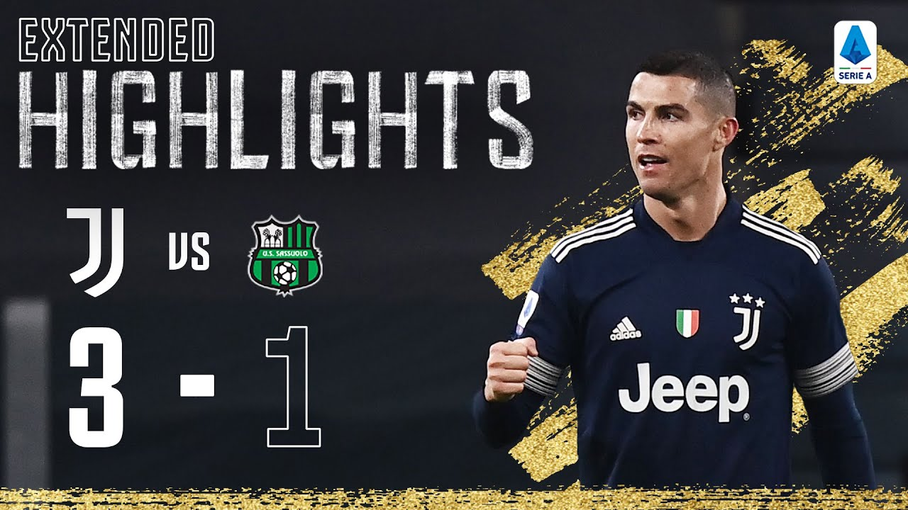 Juventus 3-1 Sassuolo | Ramsey & Ronaldo Secure win with Late Goals! | EXTENDED Highlights