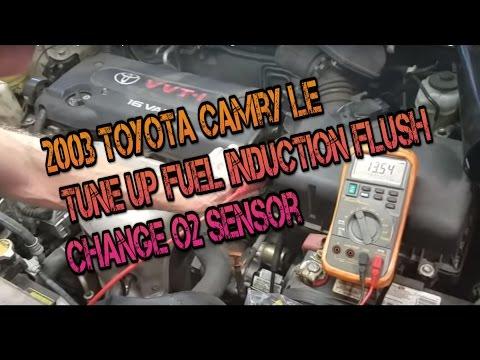 2003 Toyota Camry LE   Tune Up   Fuel Induction Flush, Change O2 Sensor