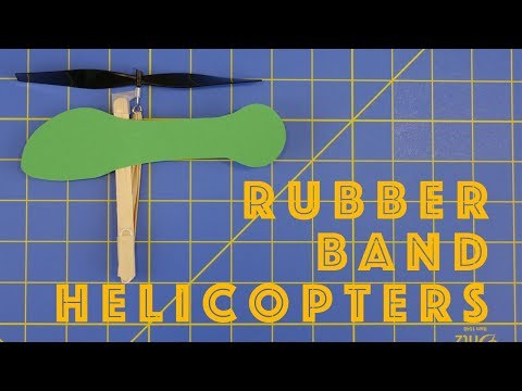 How to Make Rubber Band Helicopters - Engineering projects for kids