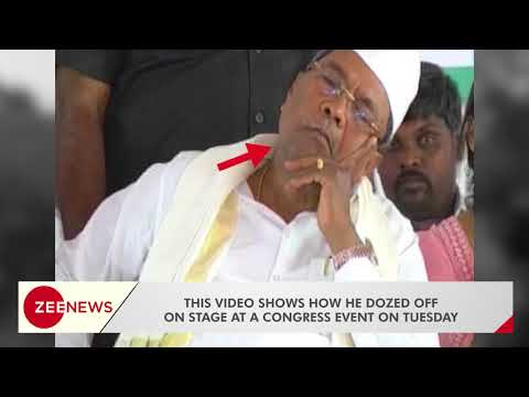 Siddaramaiah being trolled on twitter for dozing off
